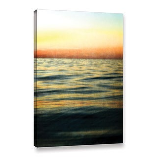 ArtWall Kevin Calkins ' Sunset With Orange And Yellow ' Gallery-Wrapped Canvas