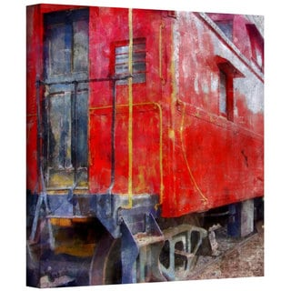 ArtWall Kevin Calkins ' Old Red Caboose ' Gallery-Wrapped Canvas