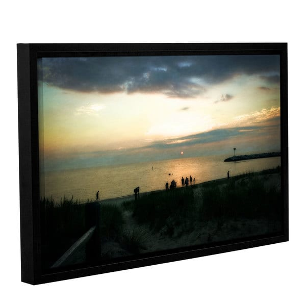 ArtWall Kevin Calkins ' Last Night ' Gallery-Wrapped Floater-Framed Canvas - Multi