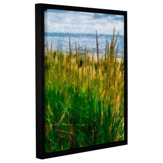 ArtWall Kevin Calkins ' Dune Grass In The Sunshine ' Gallery-Wrapped Floater-Framed Canvas