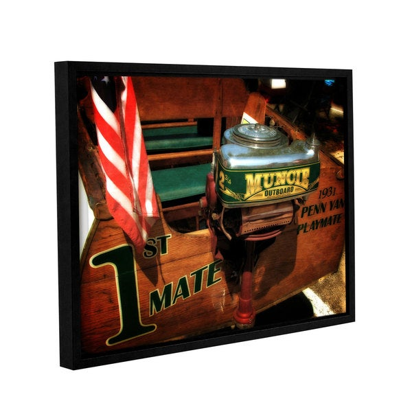 ArtWall Kevin Calkins ' First Mate ' Gallery-Wrapped Floater-Framed Canvas - Multi