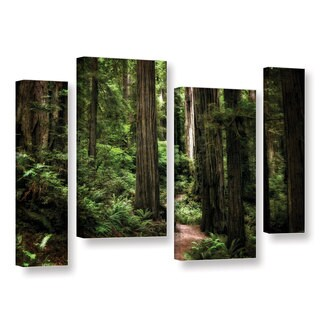 ArtWall Kevin Calkins ' Enchanted Path 4 Piece ' Gallery-Wrapped Canvas Staggered Set