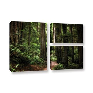 ArtWall Kevin Calkins ' Enchanted Path 3 Piece ' Gallery-Wrapped Canvas Flag Set