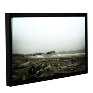 ArtWall Kevin Calkins ' Driftwood And Seastacks ' Gallery-Wrapped Floater-Framed Canvas