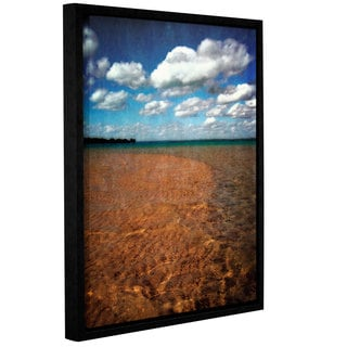 ArtWall Kevin Calkins ' Crystal Waters ' Gallery-Wrapped Floater-Framed Canvas