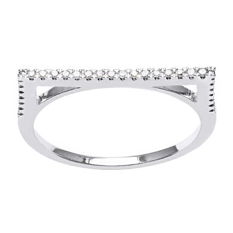 10k Gold 1/7ct TDW Diamond Anniversary Stackable Band Ring