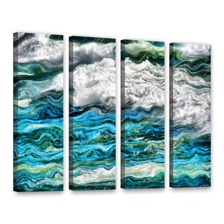 ArtWall Kevin Calkins ' Cresting Waves 2.0 4 Piece ' Gallery-Wrapped Canvas Set