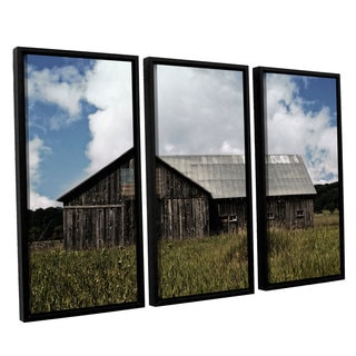 ArtWall Kevin Calkins ' Country 3 Piece Floater Framed Canvas Set