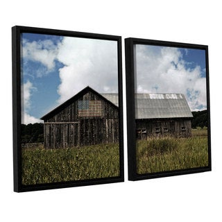 ArtWall Kevin Calkins ' Country' 2 Piece Floater Framed Canvas Set - Grey/Blue/White