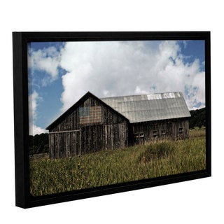 ArtWall Kevin Calkins ' Country ' Gallery-Wrapped Floater-Framed Canvas - Grey/Blue/White