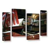 ArtWall Kevin Calkins ' Chris Craft And Old Glory 4 Piece ' Gallery-Wrapped Canvas Staggered Set - Multi