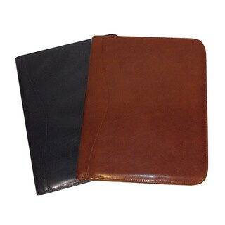 Royce Leather Zip Around Writing Genuine Leather Padfolio (2 options available)