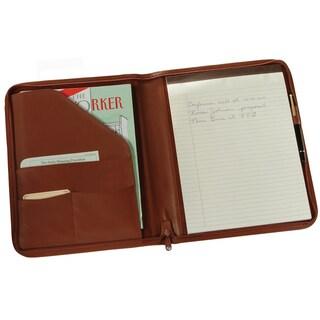 Royce Leather Zip Around Writing Genuine Leather Padfolio