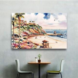 ArtWall Bill Drysdale ' Salt Creek Beach ' Gallery-Wrapped Canvas