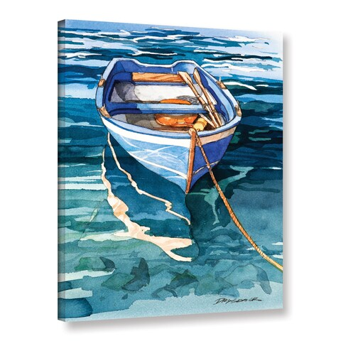 ArtWall Bill Drysdale ' Sage Vernazza Reflection ' Gallery-Wrapped Canvas - multi