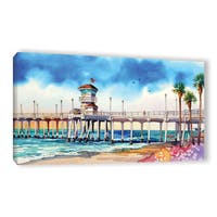 ArtWall Bill Drysdale ' Sage Surf City Pier ' Gallery-Wrapped Canvas