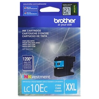 Brother Genuine LC10EC INKvestment Super High Yield Cyan Ink Cartridg