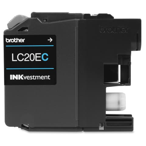 Brother Genuine LC20EC INKvestment Super High Yield Cyan Ink Cartridge