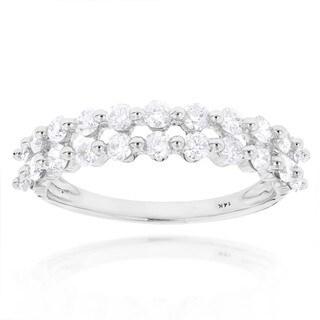 Luxurman 14k Gold 1ct TDW Diamond Designer Band (G-H, SI1-SI2)