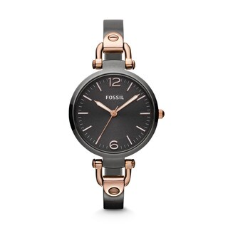 Fossil Woman's ES3111 Georgia Stainless Steel Rose Goldtone Marker Watch