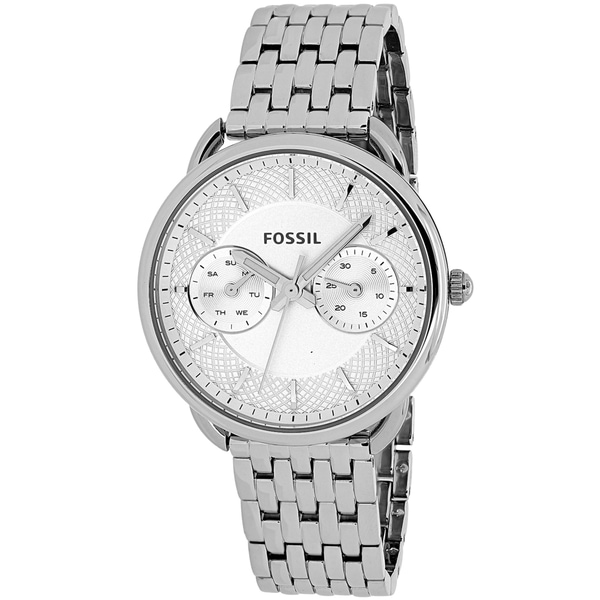 Fossil Woman's ES3712 Tailor Multifunction Stainless Steel Watch - silver