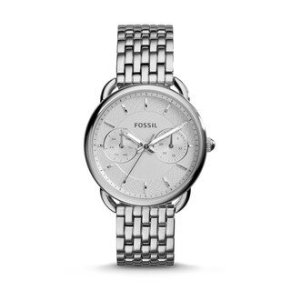 Fossil Woman's Tailor Multifunction Stainless Steel Watch - silver