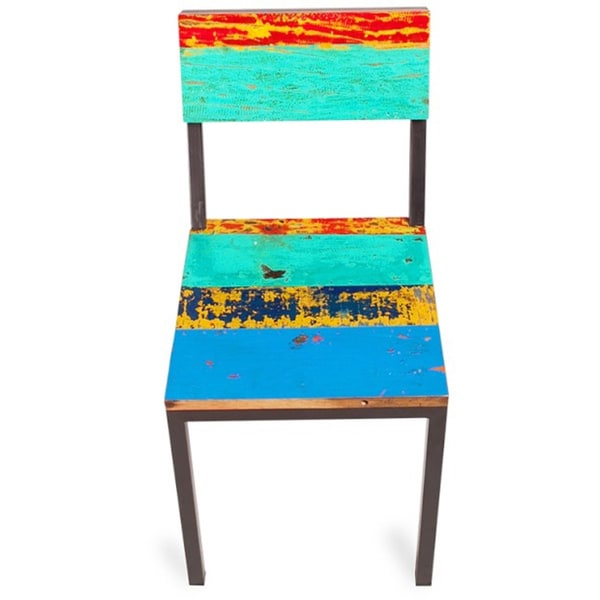 Shop Gangway Multicolor Reclaimed Wood and Iron Dining ...