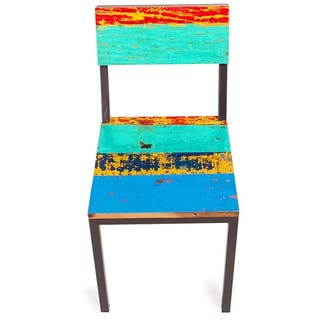 Gangway Multicolor Reclaimed Wood and Iron Dining Chair|https://ak1.ostkcdn.com/images/products/10232933/P17353644.jpg?impolicy=medium