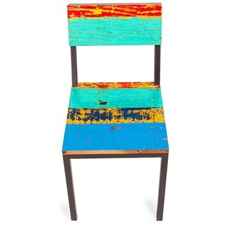 Gangway Multicolor Reclaimed Wood and Iron Dining Chair