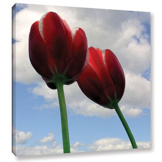 ArtWall Kevin Calkins ' Two Red Tulips ' Gallery-Wrapped Canvas