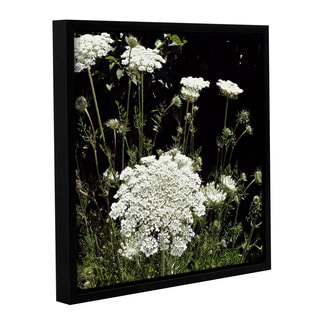 ArtWall Kevin Calkins ' Queen Anne'S Lace ' Gallery-Wrapped Floater-Framed Canvas