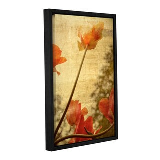 ArtWall Kevin Calkins ' Orange Tulip  ' Gallery-Wrapped Floater-Framed Canvas