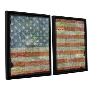 ArtWall Kevin Calkins ' Old Glory 2 Piece Floater Framed Canvas Set