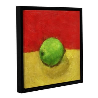 ArtWall Kevin Calkins ' Lime With Red And Gold ' Gallery-Wrapped Floater-Framed Canvas