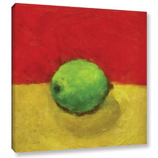 ArtWall Kevin Calkins ' Lime With Red And Gold ' Gallery-Wrapped Canvas