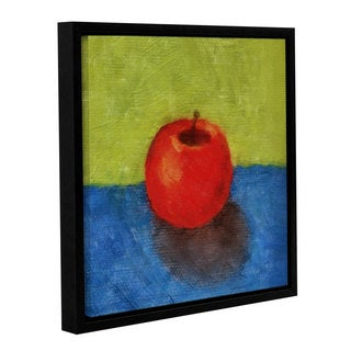 ArtWall Kevin Calkins ' Apple With Green And Blue ' Gallery-Wrapped Floater-Framed Canvas