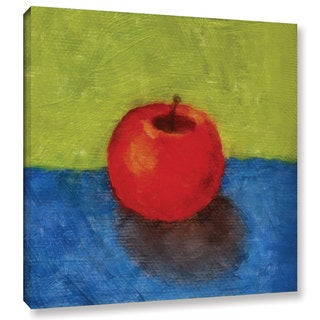 ArtWall Kevin Calkins ' Apple With Green And Blue ' Gallery-Wrapped Canvas