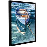 ArtWall Bill Drysdale ' Sage Vernazza Reflection ' Gallery-Wrapped Floater-Framed Canvas