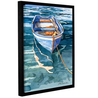 ArtWall Bill Drysdale ' Sage Vernazza Reflection ' Gallery-Wrapped Floater-Framed Canvas - multi