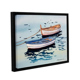 ArtWall Bill Drysdale ' Sage Vernazza Light ' Gallery-Wrapped Floater-Framed Canvas - multi