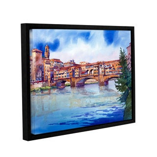ArtWall Bill Drysdale ' Ponte Vecchio ' Gallery-Wrapped Floater-Framed Canvas