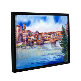 ArtWall Bill Drysdale ' Ponte Vecchio ' Gallery-Wrapped Floater-Framed Canvas - multi