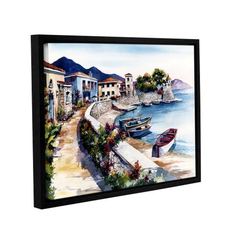 ArtWall Bill Drysdale ' Nafpaktos ' Gallery-Wrapped Floater-Framed Canvas - multi