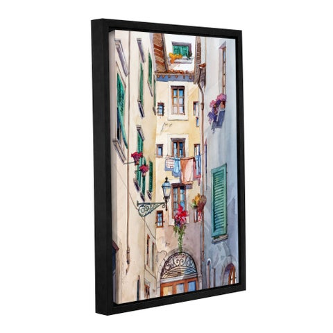 ArtWall Bill Drysdale ' Laundry Day ' Gallery-Wrapped Floater-Framed Canvas - multi