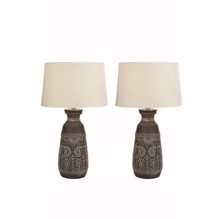 28-inch Brown Terracotta Table Lamp