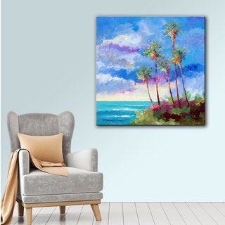 ArtWall Bill Drysdale ' Laguna Palms ' Gallery-Wrapped Canvas