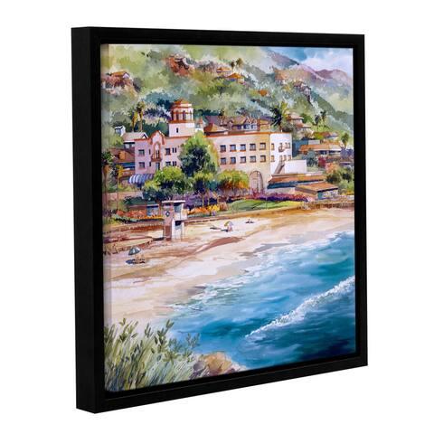 ArtWall Bill Drysdale ' Laguna Main Beach ' Gallery-Wrapped Floater-Framed Canvas - multi
