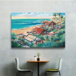 ArtWall Bill Drysdale ' Above Crystal Cove ' Gallery-Wrapped Canvas