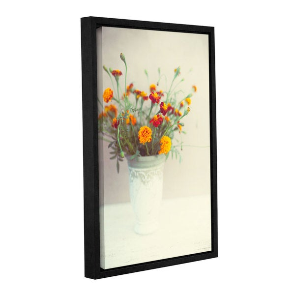 Artwall Elena Ray Flowers Classical Vase Gallery Wrapped Floater