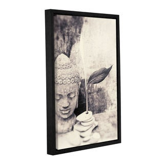 ArtWall Elena Ray ' Black And White Buddha ' Gallery-Wrapped Floater-Framed Canvas